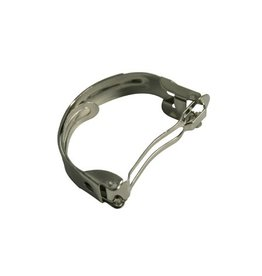 CDQ hair clip hemisphere platinum silver per 10 pieces