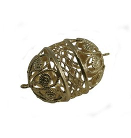 CDQ bead 28x22mm filigree gold