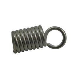 CDQ Lederband end Spirale 4mm versilberd