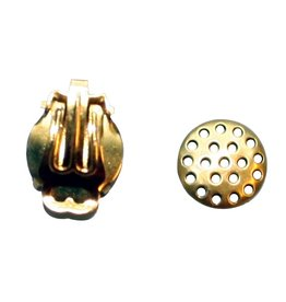 CDQ Strain ear clip 12mm gold color 20 pieces