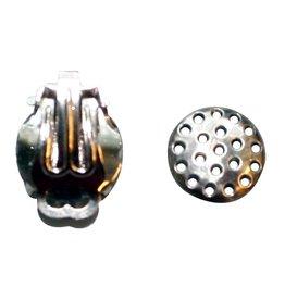 CDQ Strain ear clip 12mm silver p . 20 pcs