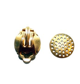 CDQ Strain ear clip 15mm gold color p . 20 pcs