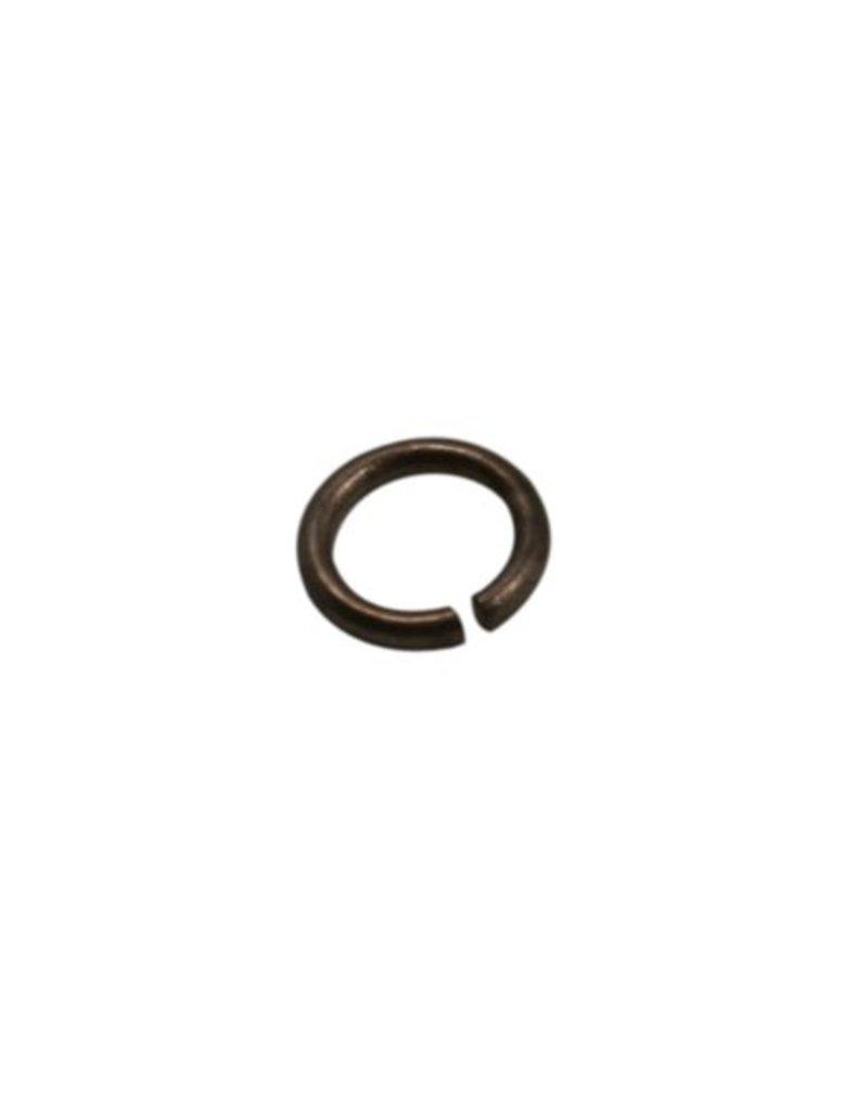 CDQ ringetje 5mm 0.6 antiek koper