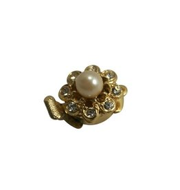 CDQ closing one eye rhinestone with pearl gold