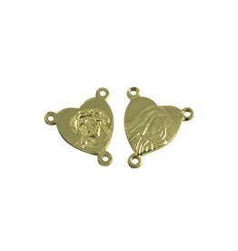 CDQ splitter rosary 12mm gold