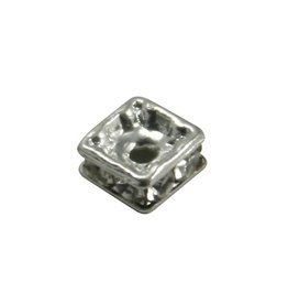 CDQ strassrondel 4,5 x4 , 5mm square silvered
