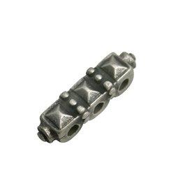 CDQ verdeler bewerkt 3 oogjes 25x7 zilverkleur
