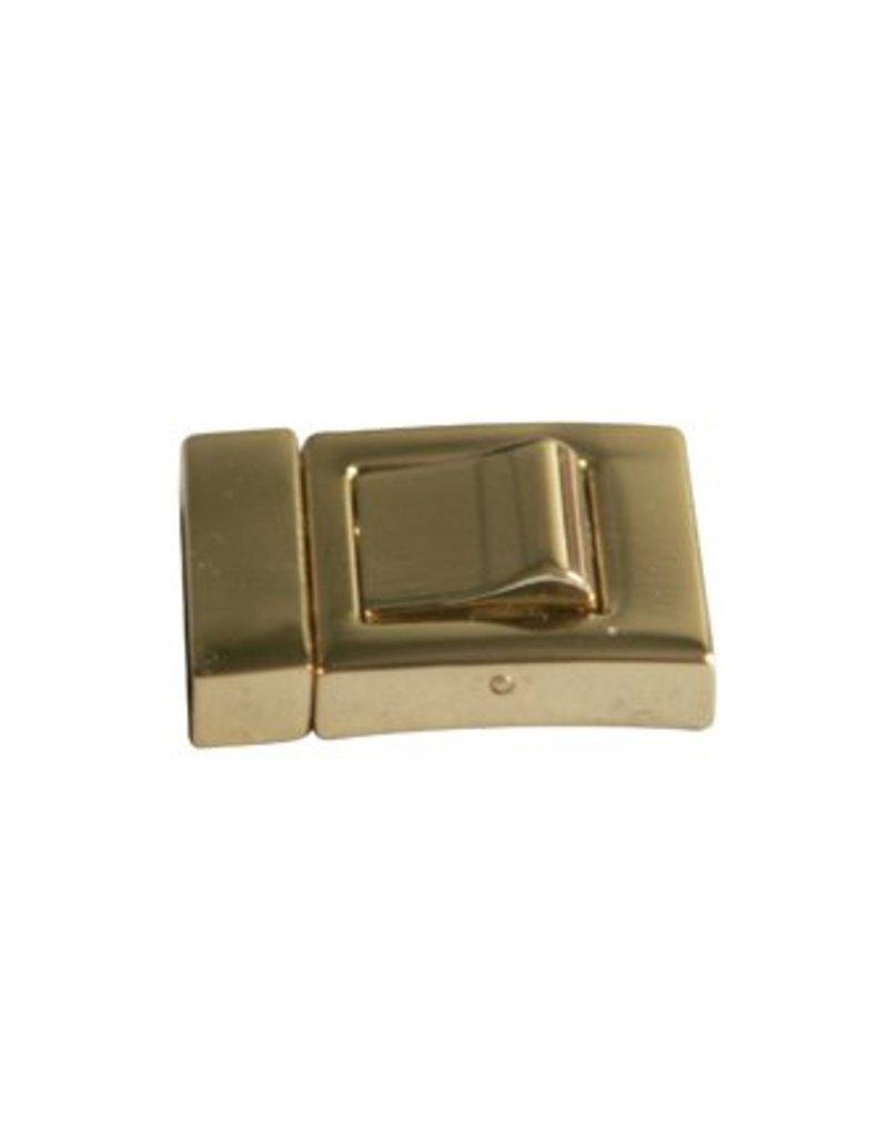 CDQ Sluiting 2-delig klik 19mm goudkleur per 2 stuks