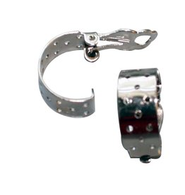 CDQ Strain ear clip hemisphere 17mm silver p. 20 pcs