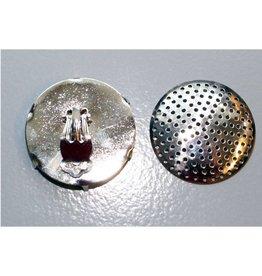 CDQ Zeef oor clip 35mm zilverkleur p. 6 stuks
