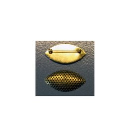 CDQ Sieve Brosche Marquise Form Farbe Gold 5 St
