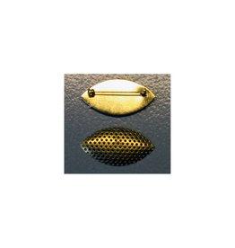 CDQ Zeef broche marquise vorm 45x23mm goudkleur per 5 stuks