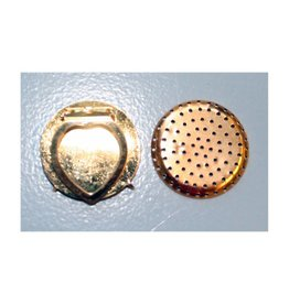 CDQ Zeef sjaal clip 35mm goudkleur per 5 stuks