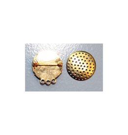 CDQ Sieve Brosche drei Ringe 23mm Farbe Gold 10 St
