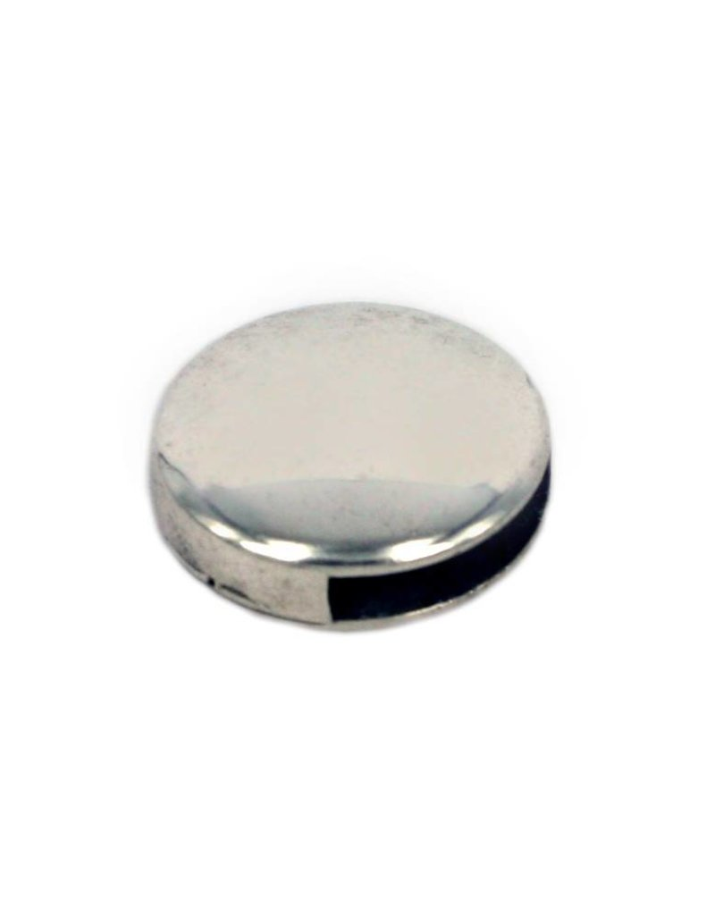 CDQ Learn Slider smooth round 13mm silver 100 pieces