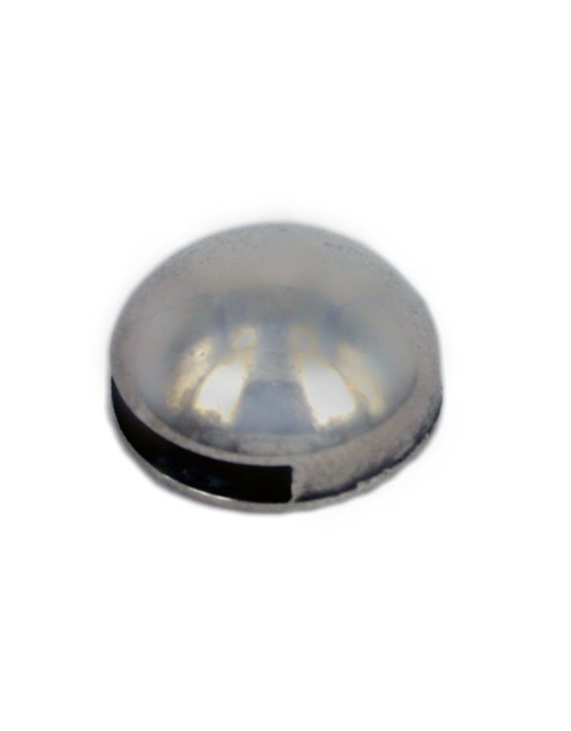 CDQ Learn Slider around globe 13mm silver 100 pieces