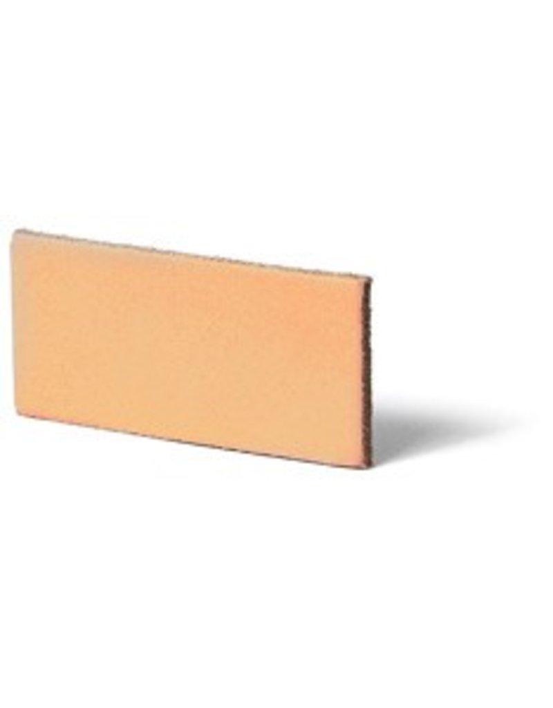 CDQ Leerstrook Nederlands splitleer 12mm Peach  12mmx85cm verpakt per 4 stuks