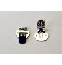 CDQ Shoe clip silver, 30 pieces