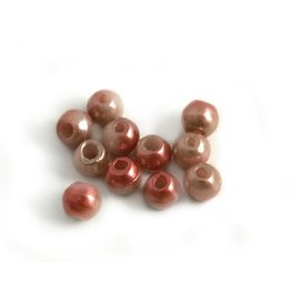 CDQ Czech glass bead pink metallic