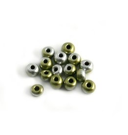 CDQ Czech glass bead gold-silver