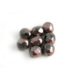 CDQ Czech glass bead lilac metallic coating