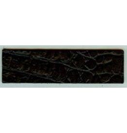 CDQ Leather strap croco matt black 40mmx14.5cm