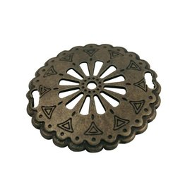 CDQ Round plate western 52mm antique gold