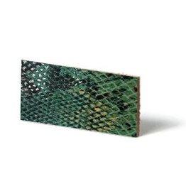 CDQ Leerstroken Nederlands splitleder Turqoise reptiel-snake 10mmx85cm verpakt per 4 stuks