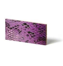 CDQ Plat leder Purple reptiel-snake 10mmx85cm