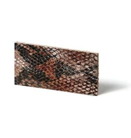 CDQ leather wristband strip Mocca reptiel-snake 6mmx85cm