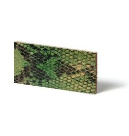 CDQ leather wristband strip Lime reptiel-snake 10mmx85cm