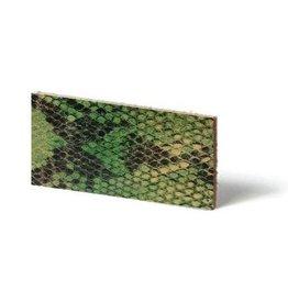 CDQ Leerstroken Nederlands splitleder Lime reptiel-snake 10mmx85cm verpakt per 4 stuks