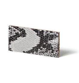 CDQ Plat leder Grijs reptiel-snake 10mmx85cm