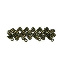 CDQ Brooch Pin 4 ornamental rings antique gold