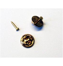 CDQ Knopf Stecker 10mm mit 2mm Stiftplatte Farbe Gold 100 St