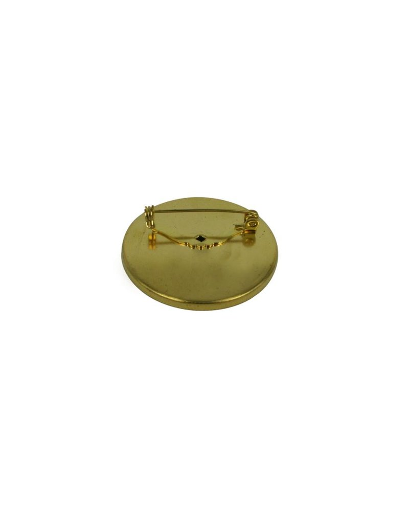 CDQ Brooch Pin inlay rim around 45mm gold color