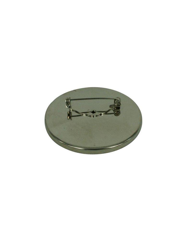 CDQ Brooch Pin inlay rim around 45mm platinum