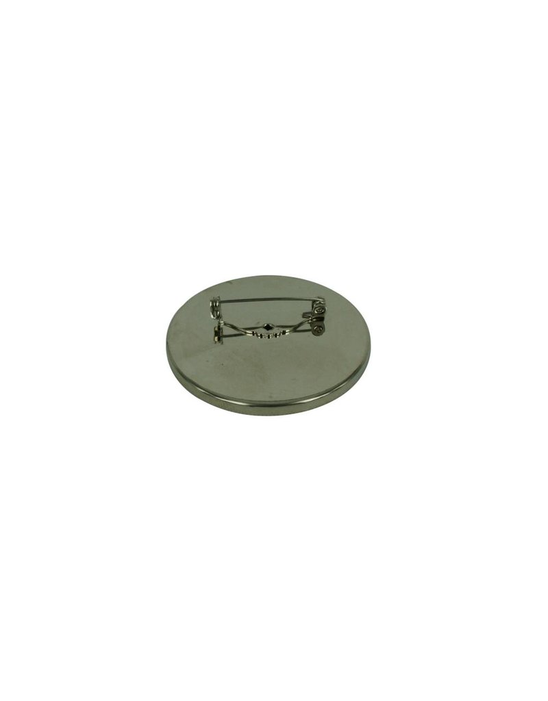 CDQ Brochespeld inleg randje rond 36mm platin
