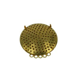 CDQ Sieve Brosche 5 Ringe 35mm Gold Farbe 5 St