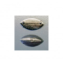 CDQ Sieve brooch marquise shape 45x23mm silver 5 pieces