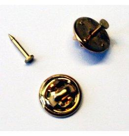 CDQ Knoopsteker dopje 12mm met pinnetje plaatje 2mm goudkleur