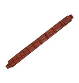CDQ wristband leather 13mmx15,5cm crocodile print cognac