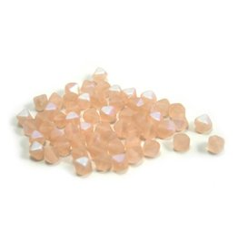 CDQ Glass bead 6mm salmon pink AB 200 pieces