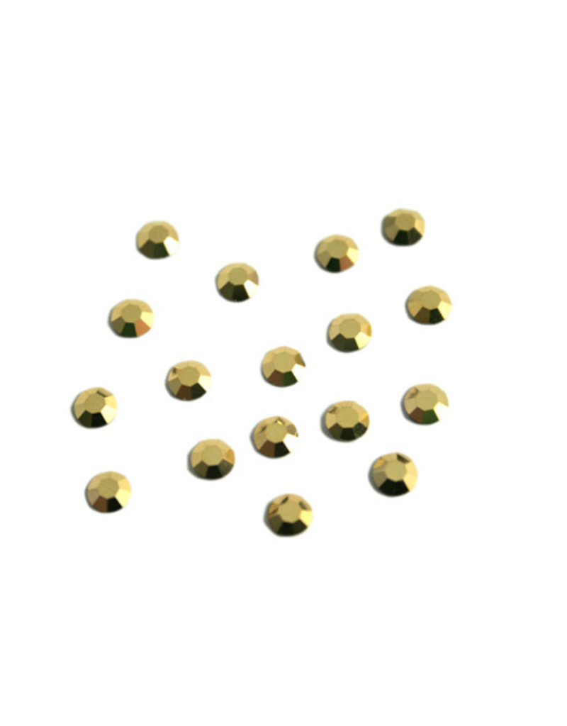 Preciosa MC Flatback ss16 crystal Aurum goudkleur per 36 stuks