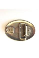 CDQ oval belt buckle bull 9cmx6.5cm