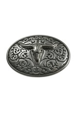CDQ oval belt buckle bull 9cmx6.5cm