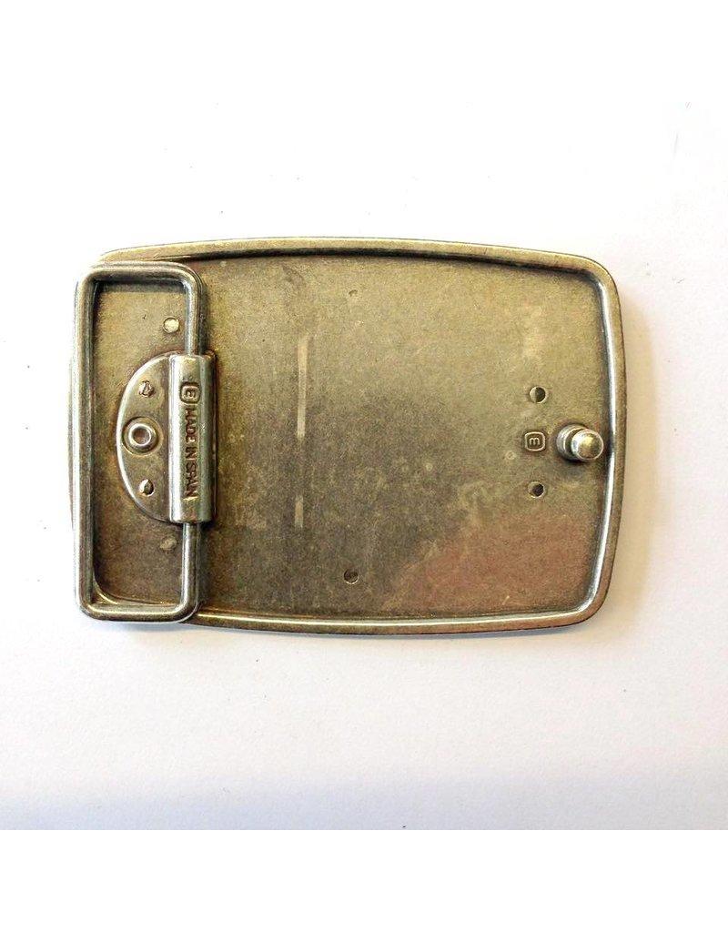 CDQ belt buckle western 9cmx6.5cm langwerpig