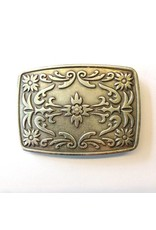 CDQ belt buckle western 9cmx6.5cm oblong