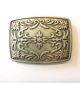 CDQ belt buckle western 9cmx6.5cm oblong