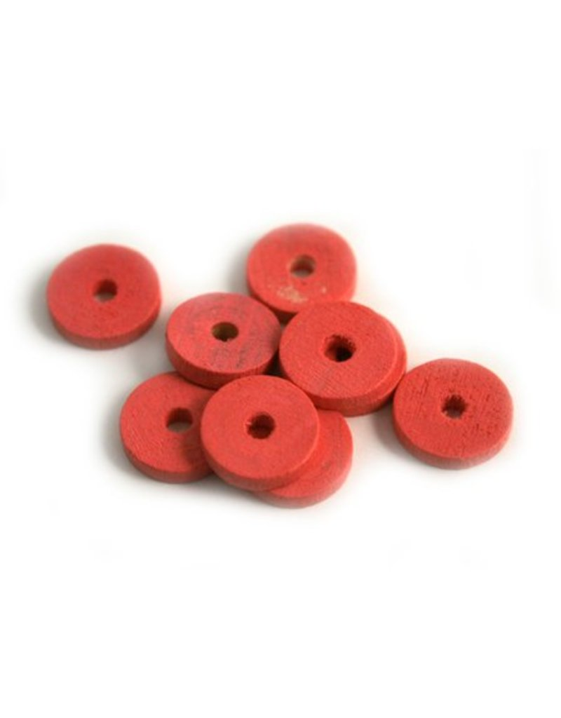 10x2mm Hout schijfje rose c.500
